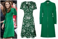 MYROYALS &HOLLYWOOD FASHİON: Duchess of Cambridge in Suzannah Dress & Erdem Coat