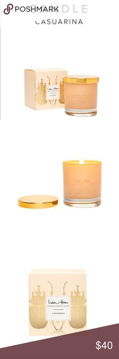 India Hicks Casuarina Soy Candle Brand New In Box Our candles are made with the highest quality ingredients Our candles utilize a renewable resource (soy) They are manufactured here in North America They hold high percentages of fragrance (Phew!) They have excellent hot and cold fragrance throw They have excellent adherence to the jar/container Burn time: 47-50 hours India Hicks Other