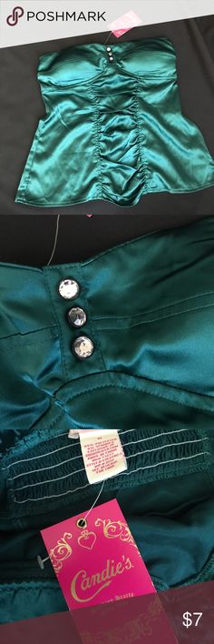 {Candies} BRAND NEW green top Silky green corset style top. Very sexy. Perfect for a date night or a night out with the girls. Brand new!!By Candies Candie's Tops