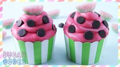 WATERMELON CUPCAKES, WATERMELON CAKE - BY SUGARCODER