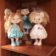 """264 Likes, 15 Comments - Куклы ручной работы (@elena.petrova.omsk) on Instagram: """"Три девицы под окном. .....вернее три подружки на полке....😄 В предвкушении наступления новогодних…"""""""