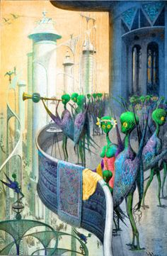 An artist's view of life on Mars, Little green men in early science fiction illustration Alien Life Forms, Create Drawing, Space Aliens, Hobgoblin, Book And Magazine, Make A Case, Downy, Green Man, The Martian