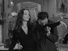 The Addams Family's Gomez and Morticia: What a lovely couple (motion graphic).