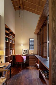 Welcome to a new collection of interior designs featuring 15 Inspirational Mid-Century Modern Home Office Designs. Home Office Design, Home Office Decor, Office Designs, Office Ideas, Mid-century Modern, Modern Lamps, Modern Home Offices, Best Modern House Design, Home Office Furniture