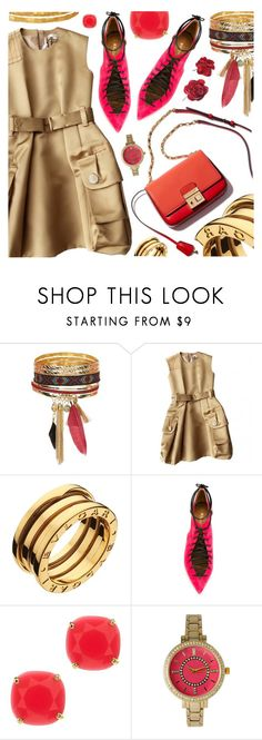 """SPRING/SUMMER"" by pastelneon ❤ liked on Polyvore featuring New Look, Marc Jacobs, Bulgari, Malone Souliers, Kate Spade and Olivia Pratt"