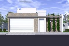 Ideas for exterior front entrance ideas garage Modern Garage Doors, Modern Entrance, Entrance Ideas, House Front, My House, Townhouse Designs, Facade Lighting, Small Cottages, Small Houses