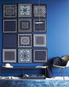 Love bandanas - cool idea.  I had to refrain from pinning almost everything on this site - check it out - great home decor ideas.