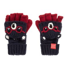2213e25e9051c Joules - Boys Blue BEAR Gloves