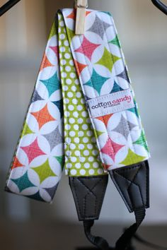 Cathedral Windows Reversible Camera Strap by cottoncandybynatalie, $30.00