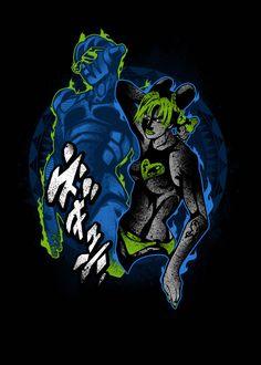 'Jolyne Jojo Bizarre Advent' Metal Poster Print - Hyper Twenty   Displate Cartoon Games, Force Of Evil, Jojo Bizarre, Jojo's Bizarre Adventure, Amazing Art, The Twenties, Anime Art, Poster Prints, Ocean