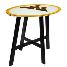 West Virginia Mountaineers Wooden Pub Table, Multicolor