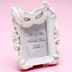 Masquerade Place Frame Favor - Sweet Sixteen Favors - Other ...