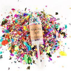 Push Pop Confetti Wedding Poppers, Wedding Confetti, Rainbow, Send Off Ideas