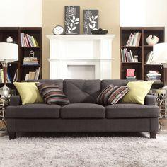 Chelsea Lane Upholstered Tufted Sofa - Dark Gray - E502S-DGL[SOFA]