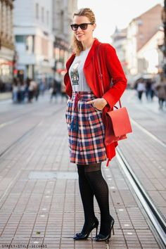 TARTAN, CATS AND STRIPES ON THE STREETS OF ZAGREB  STREET STYLE SECONDS