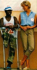 Princess Diana used her position for positive influence with HIV/AIDS victim and land mine victims.  She was true class.