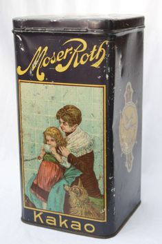 Moser-Roth cocoa tin  1930