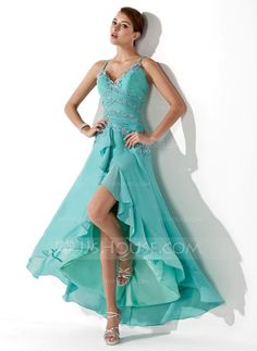 Prom Dresses - $152.99 - A-Line/Princess Sweetheart Asymmetrical Chiffon Prom Dress With Ruffle Beading Appliques Sequins (018005063) http://jjshouse.com/A-Line-Princess-Sweetheart-Asymmetrical-Chiffon-Prom-Dress-With-Ruffle-Beading-Appliques-Sequins-018005063-g5063
