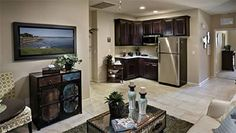 Lennar NextGen homes provide a floor plan that gives your parents a home within your home. They've done a pretty good job!