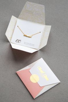 gold Maker necklace // Custom nameplate necklace // available exclusively at. - gold Maker necklace // Custom nameplate necklace // available exclusively at Closet Case Patter - Pretty Packaging, Gift Packaging, Packaging Design, Diy Jewelry Packaging, Packaging Ideas, Jewelry Branding, Bracelet Packaging, Paper Packaging, Custom Packaging