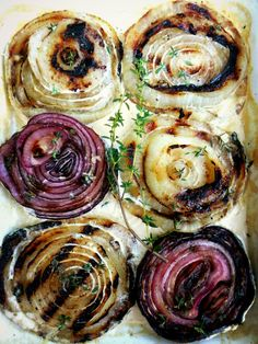 Grilled Onions with Thyme & Cream
