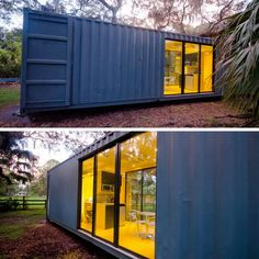 THE HAB TINY CONTAINER HOME | THE CASA CLUB Sea Container Homes, Container Shop, Building A Container Home, Container Buildings, Container Architecture, Container House Design, Tiny House Design, Shipping Container Home Designs, Shipping Containers