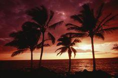 Southwestern Maui sunset in Wailea near Ahihi Kinau