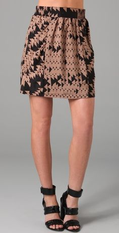 the addison story Triangle Print, Print Skirt, Tribal Prints, Style Me, Layers, Mini Skirts, Silk, Fabric, Pattern