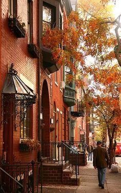 Haute in Philadelphia. Fall is here in Rittenhouse neighborhood of Philadelphia, Pennsylvania, U.S   by David OMalley