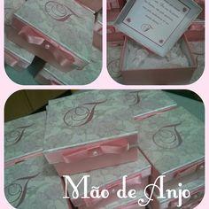 Caixas personalizadas para uma boneca liiiinda!!! Obrigada @lucianeacosta pela confiança e credibilidade!! Beijos