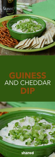 With St. Patrick's Day right around the corner, you might be looking for that perfect appetizer to bring to a themed party. This Guinness and Cheddar Dip is so easy to throw together in a blender or food processor. You'll love the deep flavor you'll get from the beer, and it's so delicious dipping in chips or veggies.