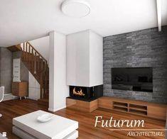 Resultado de imagen para nowoczesna ściana tv Tv Wall Design, Living Room Lighting, Home Renovation, Foyer, Decoration, Architecture, Home Decor, Ideas, Tv Unit Furniture