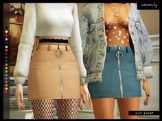 loooovely mm skirt with cute little detail on zipper... texture 100% made by me. Found in TSR Category 'Sims 4 Female Everyday'