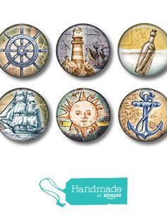 Nautical Art - Fridge Magnets - Sea Life Magnets - Ocean Magnets - 6 Magnets - 1.5 Inch Magnets - Kitchen Magnets from Shakespeares Sisters https://www.amazon.com/dp/B01GBXTUXM/ref=hnd_sw_r_pi_dp_OCeCxbCQPTJTM #handmadeatamazon