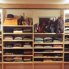 RoomClipmagに掲載されました/いいね♥300人感謝です♥/PRADA…などのインテリア実例 - 2016-11-09 18:28:04 | RoomClip(ルームクリップ) Shop Interiors, Kitchen Interior, Dressing Room, Home Renovation, Laundry Room, Closet Layout, Wardrobe Storage, Small Rooms, Bath Remodel