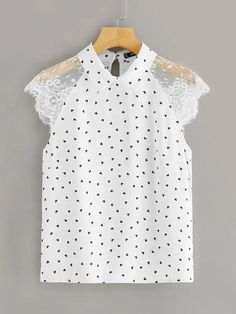 To find out about the Plus Lace Raglan Sleeve Heart Print Collared Blouse at SHEIN, part of our latest Plus Size Blouses ready to shop online today! Collar Blouse, Couture, Heart Print, Plus Size Blouses, Printed Blouse, Types Of Sleeves, Blouses For Women, Women's Blouses, Fashion News