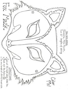 template to color in your design pleasebig bad wolf mask template SuccessGo Back > Pix For > Printable Fox Mask . Printable Masks, Templates Printable Free, Printables, Ninja Turtle Mask, Diy For Kids, Crafts For Kids, Wolf Mask, Wolf Costume, Fantastic Mr Fox