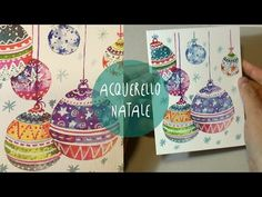 Acquerello PALLINE DI NATALE * Speed Painting con commento by ART Tv - YouTube