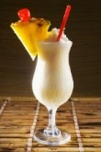 10 non-alcoholic cocktails- Virgin Pina Colada Top 10 Mixed Drinks, Virgin Pina Colada, Fine Wine And Spirits, Non Alcoholic Cocktails, Coconut Rum, Pineapple Juice, Orange Juice, Frappe, Vanilla Ice Cream