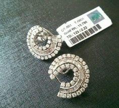Diamond Earing, Diamond Bangle, Diamond Jewellery, Diamond Studs, Pearl Jewelry, Indian Jewelry, Diamond Dreams, Jewellery Designs, Diamond Are A Girls Best Friend