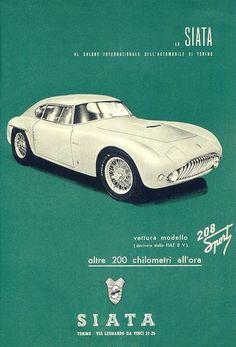 Siata 208 Sport - brochure