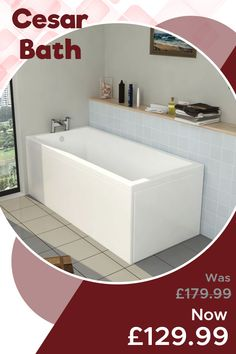 Let's make a judicious choice to single ended 🛀🏿 bath for your lavatory. Additionally, enjoy more discount to visit our website.🌐  Discounted Price: £129.99 💰