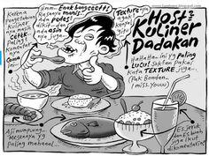 Mice Cartoon, Kompas Minggu - 9 Agustus 2015: Host Kuliner Dadakan