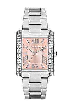 Michael Kors 'Emery' Crystal Accent Bracelet Watch