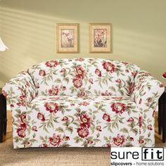 @Overstock - With its traditional floral print and elegant skirt, this stretchy Sure Fit slipcover upgrades the look of your living room. Crafted from soft polyester and spandex, the cover is designed to fit snugly around your sofa for a clean look.http://www.overstock.com/Home-Garden/Sure-Fit-Olivia-Stretch-Sofa-Slipcover/6378298/product.html?CID=214117 $68.35