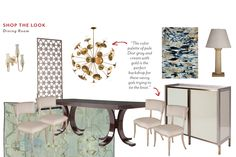 "Shop the Look: David Scott's ""How to Marry a Millionaire"" Dining Room"