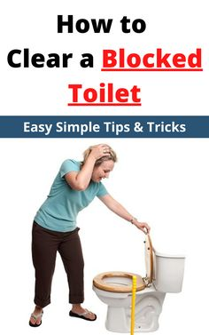 Experiencing a blocked toilet, here we have outline some of the best tips and tricks to clear toilet blockages you might be experiencing #howtoclearablockedtoilet Toilet Drain, Clogged Toilet, Toilet Cleaning, Cleaning Hacks, Local Plumbers, Outline, Bathroom Ideas, Remedies, Simple