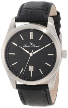 Men's Wrist Watches - Lucien Piccard Mens LP1156801 Eiger Black Leather Watch *** Read more reviews of the product by visiting the link on the image. (This is an Amazon affiliate link)