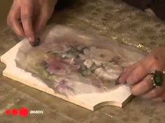 Decoupage for beginners, decoupage technique - YouTube