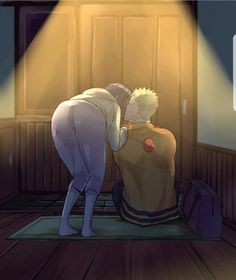 Goodbye kiss with naruhina